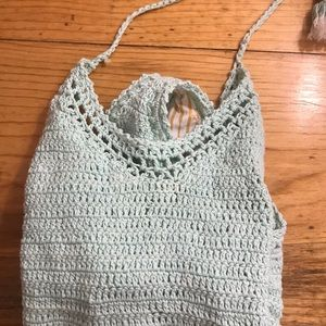 She made me free people crochet swimsuit s/m